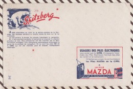 200 BUVARD LA PILE MAZDA SPITZBERG  21  X 15 CM - Electricité & Gaz