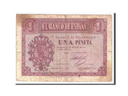 Espagne, 1 Peseta, 1937, KM:104a, 1937-10-12, B - [ 3] 1936-1975 : Régence De Franco