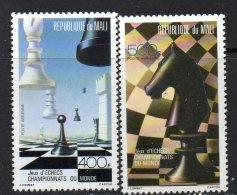 1986 Mali Chess Complete Set Of 2 MNH - Mali (1959-...)