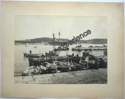 Photo Bateau Militaire Port Military Ship 1900 TOULON Var 83 PACA - Bateaux
