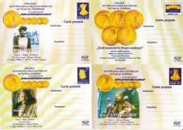CINEMA, MOVIE PRODUCERS UNION, PC STATIONERY, ENTIER POSTAL, 4X, 2003, ROMANIA - Cinema