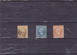 FRANCE : Napoléon III : Y&T : 21 O22 O23 O - 1862 Napoléon III