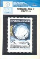 METEOROLOGY METEOROLOGIA Y FILATELIA RARISIMO LIBRO ENGLISH-SPANISH 72 PAGINAS A COLORES CIRCA 1993 L´ARGENTINE - Temas