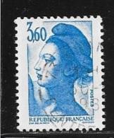 N° 2485   FRANCE  -  OBLITERE -   TYPE LIBERTE 3F60   -  1987 - Frankreich
