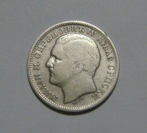 SERBIA 1 DINAR 1879, SILVER - Serbie