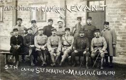 GUERRE D'ORIENT  DEPART POUR L'ARMEE DU LEVANT  MARSEILLE  SAINTE MARTHE 13 MARSEILLE CARTE PHOTO 1921 - Militaria