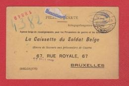 Feldpostkarte --  La Caissette Du Soldat Belge --  15 Avril 1916 - German Occupation
