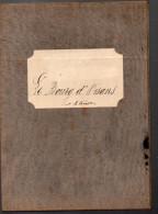 Crte Dépliante Entoilée Le Bourg D'Oisans (isère) XIXe1/80.000e (PPP3058) - Cartes Géographiques