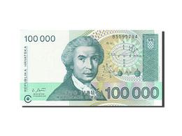 Croatie, 100,000 Dinara, 1991-1993, KM:27A, 1993-05-30, NEUF - Croatie
