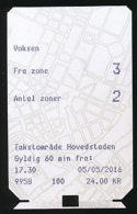 Ticket De Métro : Copenhague (Danemark) Fra Zone 3, Antal Zoner 2 - Europa