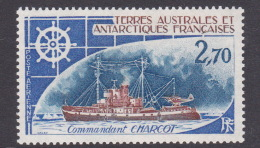 French Southern And Antarctic Territory SG 105 Airmail 2F 70, Commandant Charcot, Mint Hinged - French Southern And Antarctic Territories (TAAF)