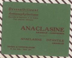 208 BUVARD ANACLASINE LABORATOIRE OPOCALCIUM   13.5 X 10.5 CM - Chemist's