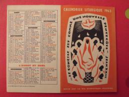 Calendrier Liturgique 1963 - Petit Format : 1961-70
