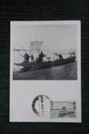 SOUDAN FRANCAIS, Pirogue Sur Le NIGER - N° 3978 , CPA Publicitaire IONYL, Série AOF - Soudan