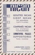 210 BUVARD NICAN LABORATOIRE CANTIN PALAISEAU  21 X 13.5 CM - Droguerías