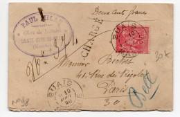 1896 - PETITE ENVELOPPE CHARGE De SAINTE ANNE DE BUAY (MANCHE) Avec N° 98 - Storia Postale