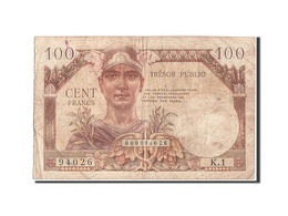 France, 100 Francs, 1955-1963 Treasury, 1955, 1955, KM:M11a, TB, Fayette:VF34.1 - Treasury