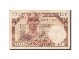 France, 100 Francs, 1955-1963 Treasury, 1955, 1955, KM:M11a, TB+, Fayette:VF34.1 - Treasury