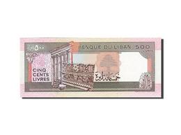 Lebanon, 500 Livres, 1988-1993, KM:68, 1988, NEUF - Liban