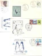 43 SOBRES DIFERENTES CON MATASELLOS ANTARTICOS ARGENTINOS RARE ET BELLE COMPOSITION ANTARTIDE ANTARTICS - Postzegels
