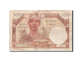 France, 100 Francs, 1947 French Treasury, 1947, 1947, KM:M9, TB, Fayette:VF32.1 - Treasury