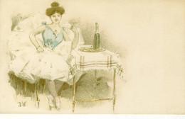 CPA (illustrateurs)   Femme (signée J.W) - Illustrators & Photographers