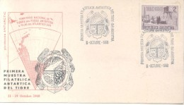 PRIMERA MUESTRA FILATELICA ANTARTICA DEL PARTIDO DE TIGRE AÑO 1968 SOBRE RARISIME TRES BON ETAT - Sellos