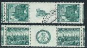 Cecoslovacchia 1938 Usato - Mi.400/01  Yv.343/44  Coppia+appendìce - Usati