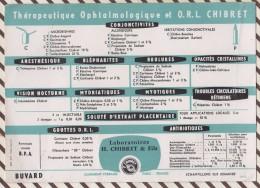 226 BUVARD LABORATOIRE H CHIBRET THERAPEUTIQUE OPHTALMOLOGIQUE   21 X 15 CM - Produits Pharmaceutiques
