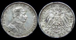 3 Mark 1914 A. Preussen, Wilhelm II°. German States. Argent/ Silber - 2, 3 & 5 Mark Argent