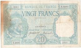 France, 20 Francs, 20 F 1916-1919 ''Bayard'', 1918, 1918-12-27, KM:74, TB+, F... - 1871-1952 Circulated During XXth