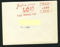 Grenoble Soutien Gorge Lou 18.03.1966 Et Cachet De Saint Nizier Du Moucherotte - Oblitérations Mécaniques (flammes)