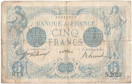 France, 5 Francs, 5 F 1912-1917 ''Bleu'', 1913, 1913-04-17, KM:70, TB, Fayett... - 1871-1952 Anciens Francs Circulés Au XXème