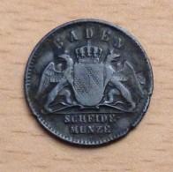 BADE 1/2 KREUZER 1859 - Kleine Munten & Andere Onderverdelingen