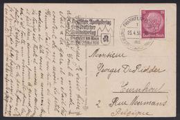 1933 - DEUTSCHES REICH - Picture Postcard + Michel 488 [Paul Von Hindenburg] + FRANKFURT - Briefe U. Dokumente