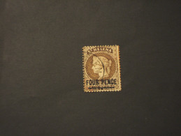 ST. HELENA - 1884/94 REGINA, Soprast. FOUR PENCE - TIMBRATO/USED - Isola Di Sant'Elena