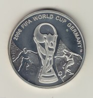 @Y@   Georgia 2004 World Cup 1 Lari Silver Coin,Proof - Georgië