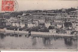 Cp , 91 , CORBEIL , Vue Sur Saint-Germain-lès-Corbeil, Prise De L'Hôtel De Ville - Corbeil Essonnes