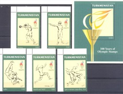 1997. Turkmenistan, Olympic Games Atlanta 1996, 5v + S/s, Mint/** - Turkmenistán