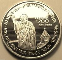 "@Y@   Nagorno-Karabakh Armenia 1000 Dram 2004 Silver Coin.""1700 Years Of Christianity"""