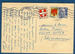 France - Entier Postal Type Gandon +cplt De Annemasse Pour La Tchécoslovaquie En 1950   à Voir 2 Scans   Réf. 906 - Posttarife