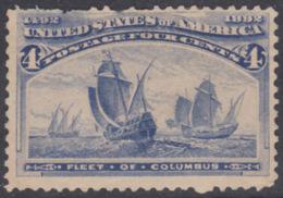 !a! USA Sc# 0233 SINGLE (hinged) - Fleet Of Columbus - Ungebraucht