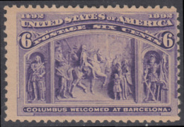 !a! USA Sc# 0235 SINGLE (hinged) - Columbus Welcomed At Barcelona - Unused Stamps