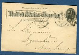 Etats Unis - Entier Postal De New York En 1894   à Voir 2 Scans   Réf. 912 - Entiers Postaux