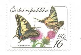 Czech Republic 2016 - Butterflies, 1 Stamp, MNH - Papillons