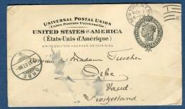 Etats Unis - Entier Postal De New York Pour La Suisse En 1907   à Voir 2 Scans   Réf. 915