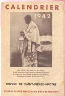Kalender Calendrier 1941 - Oeuvre De Saint Pierre Apotre - Calendriers