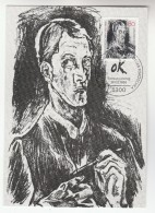 1986 GERMANY Maximum Card KOKOSCHKA ART Stamps Cover Fdc - Art