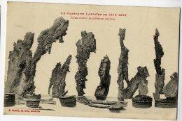 LA GUERRE EN LORRAINE EN 1914 1915  ECLATS D OBUS DE DIFFERENTS CALIBRES - Guerre 1914-18