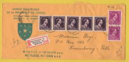 Belgien - Einschreiben Vom 4.8.1964 Aus Brüssel Nach Luxemburg - Mischfrankatur - Vermerk Vom Zoll - Brieven En Documenten